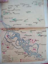 1809 AUSTRIA: MAPPA NAPOLEONE NELLA BATTAGLIA DI ESSLING E PASSAGGIO DEL DANUBIO