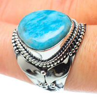 Larimar 925 Sterling Silver Ring Size 8.25 Ana Co Jewelry R31731F