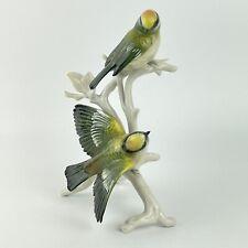 More details for vintage karl ens porcelain figure of a bird possibly a gold crest group 19cm