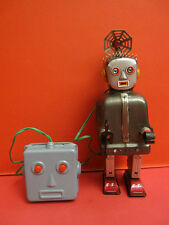 ALL ORIGINAL NOMURA RADAR ROBOT DARK GREY SPACE TIN TOY MADE IN JAPAN 1956