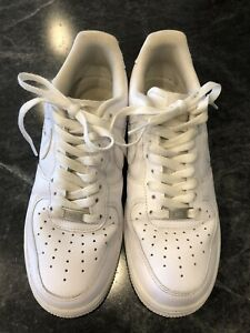 Nike Air Force 1 one MEN'S Shoes - White -  7.5 Excellent Condition - Authentic