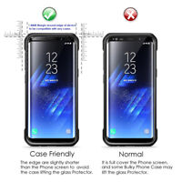Samsung Galaxy  S8 CASE FRIENDLY 4D Clear HD Tempered Glass Screen Protector