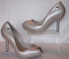 Melissa Shoes Pearl + Karl Lagerfeld beige heels  Women's size 10