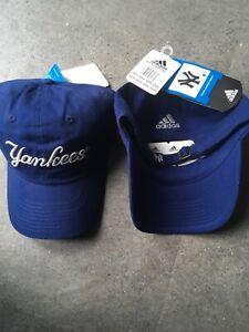 Adidas New York Yankees official cotton navy blue Baseball cap adult adjustable