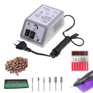 Electric Nail Art File Drill Set Fingernail Toe Nail Machine Nail Care Portable