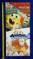 Store Display Sign Spongebob Squarepants & Avatar Nickelodeon Video Game Promo
