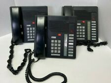 Nortel Meridian M2008 BLK NT9K08AA03 Business Multi Line Phone w/ Stand Lot of 3