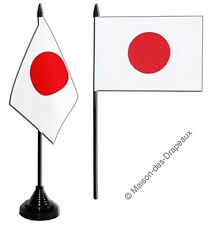 Drapeau de table JAPON, MINI DRAPEAU  Qualité TOP 10x15cm