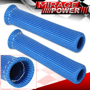 For Chevy 2Pc Spark Plug Wire Tube Insulator Thermal Wrap Car Auto Sleeve Blue