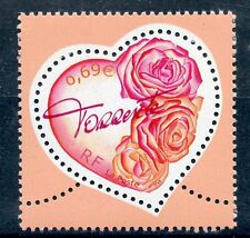 STAMP / TIMBRE FRANCE NEUF N° 3539 ** SAINT VALENTIN / COEUR AVEC ROSES