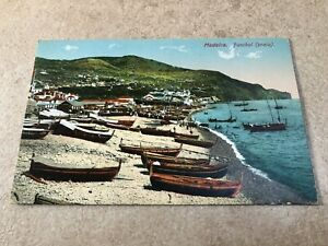 1900s colour postcard . madeira - funchal praia