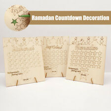 Eid Graffiti Calendar Wooden Home Decorations Mubarak Ramadan Countdown Gifts