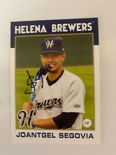 Joantgel Segovia 2016 Signed Helena Brewers Team Card