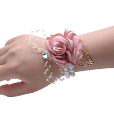 5pcs Wedding Party Wrist Corsage Bride Bridesmaid Sisters Hand Flowers Wristband