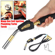 Mapp Gas Self Ignition Plumbing Turbo Torch With Hose Solder Propane Welder Tool