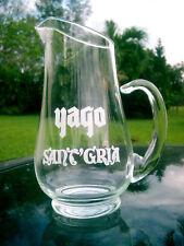 "Vintage YAGO Sant' Gria Sangria rare glass wine service bar carafe 9.5"" Tall"