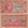 Military Payment Certificate Series 641 25 Cents Replacement Vietnam Era VG