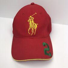 POLO RALPH LAUREN Fragrances Big Pony Cap Dad Hat #2 Red Green
