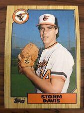 1987 Topps Storm DAvis Baltimore Orioles 349