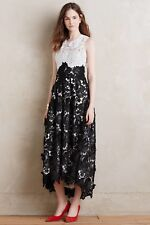 $598 New Anthropologie Hunter Bell Snow Bloom Lace Dress *Size 4 *RARE *SOLD OUT