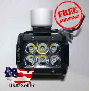 "Flounder Gigging Light 3/4"" PVC Head LED 18 Watts 1800 Lumens 12 Volt (Fishing)"