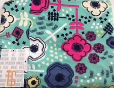 Lularoe Neon pink,blue,navy white flowers on TEAL Print TC2 Legings PlusSize NEW