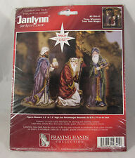 Janlynn Counted Cross Kit Three Wisemen Nativity Praying Hands 3198-01 Open