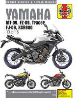Yamaha MT-09 FZ-09 TRACER FJ09 XSR900 Shop Repair Service Manual Haynes book