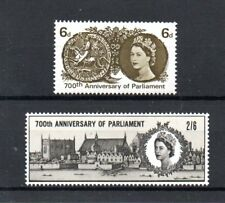 GB 1965 SG 663 to 664 m/m 700th ANNIVERSARY OF PARLIAMENT