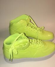 Nike Air Force 1 Mid 07 LV8 UV Volt/White Patent Leather Size 14 AO0702-700