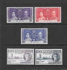 1937/46 King George VI Coronation and Victory sets Mint Hinged ST LUCIA