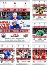 2017-18 Tim Hortons Game Day Action **** PICK YOUR CARD **** From The SET