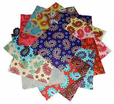 "30 5"" Quilting Fabric Sqs/Beautiful Bright Poppin Paisleys!"