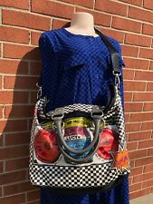 """GEORGE GINA & LUCY """"THEGHETTOBLASTER""""  MULTICOLOR MESSENGER CROSS BODY BAG /TOTE"""