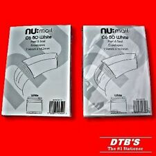 100 X C6 PLAIN WHITE ENVELOPES SELF PEEL&SEAL TAKES A6 114X162MM HOME OR OFFICE