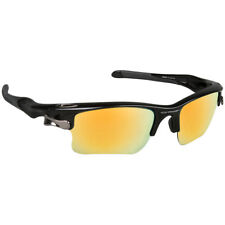 New Grey Polar w/Gold Mirror Replac Lenses made to fit Oakley Fast Jacket XLJ