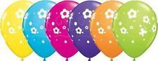 "5 x Daisies & Butterflies Assorted 11"" Qualatex Latex Balloons - Air Or Helium"