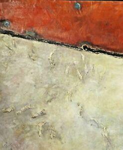 Oil painting canvas on veneer abstract Dora Pilssala ORIGINAL HORIZON OF EVENTS