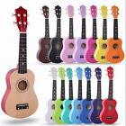 21'' Ukulele Mini Acoustic Soprano Guitar 4-String Musical Instrument Basswood
