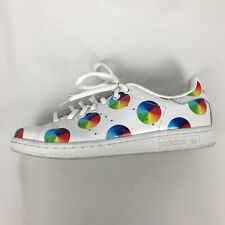 Womens Adidas Stan Smith Trainers Low Top Lace Shoes Multicolour Polka Dot 5.5