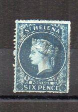 St Helena 1861 6d blue, rough perfs, FU