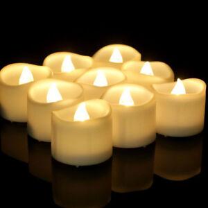 24X LED Kerze Außen mit Timer flackernde Kerzen flackernd Teelicht Garten Balkon