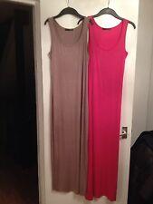 2x Ladies Atmosphere Fuchsia/Hot Pink & Light Brown/Mink Jersey Dresses -Size 10