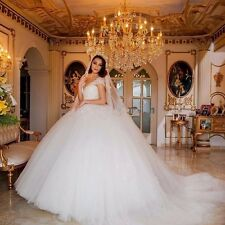 2017 Princess Bridal Gowns Tulle Wedding Dresses With Pearls  Lace Applique