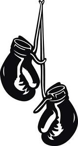 BOXING GLOVES HANGING Decal WALL STICKER Home Decor Art Vinyl Stencil Gym ST53