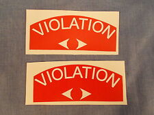 MiCo Michaels Art Bronze Parking Meter VIOLATION Labels, Replacement
