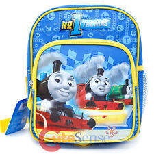 "Thomas Tank Engine  Friends Toddler Backpack 10"" Small School Bag -No 1 Thomas"