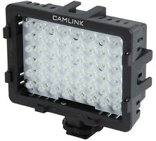 Camlink 5400k 48 Led Foto Video Luz Con 3 Difusor Filtros + montaje de Zapata