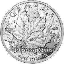 Canada 2013 25th Anniversary SML $5 1 Oz Silver Maple Leaf High Relief Piedfort