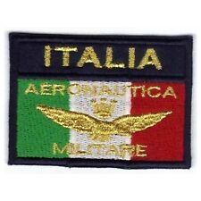 [Patch] BANDIERA AERONAUTICA MILITARE ITALIA cm 7,5x5 toppa ricamata ricamo -392